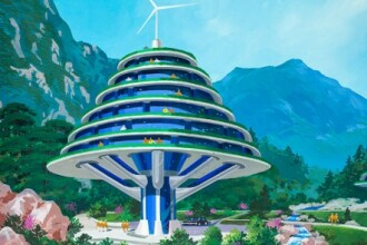 Cum va arata Coreea de Nord, in viziunea arhitectilor din tara lui Kim Jong-il. Proiectele desprinse din desene animate. FOTO