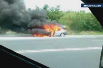 O familie din Cluj a trecut prin momente de groaza. Masina in care se aflau a luat foc in mers