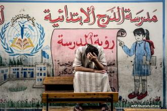 O zi in iadul din Fasia Gaza. Musulmanii ingroziti, civili nevinovati, se ascund in biserici ca sa scape de moarte. FOTO