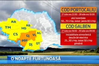 COD PORTOCALIU de ploi si inundatii in 3 judete, COD GALBEN in alte 9. Ce ne asteapta saptamana viitoare