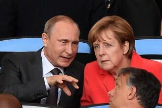 Planul pe care l-ar negocia in secret Putin si Merkel. Independent scrie despre un schimb ce implica gazele si Crimeea
