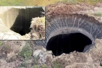Cateva cratere gigant aparute in nordul Siberiei ii pun pe jar pe savantii rusi. Explicatia gasita de acestia