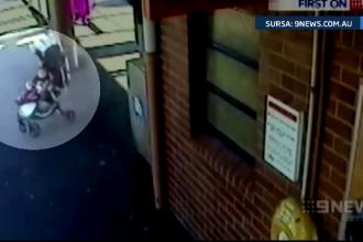 Si-a riscat viata pentru a-si salva nepoata din fata trenului. Ce a urmat dupa ce fetita a fost urcata pe peron. VIDEO
