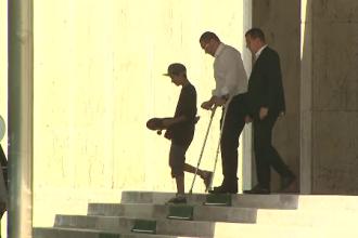 Victor Ponta a ajuns in carje la Palatul Victoria, unde a avut loc sedinta de Guvern. Premierul i-a scris lui Klaus Iohannis