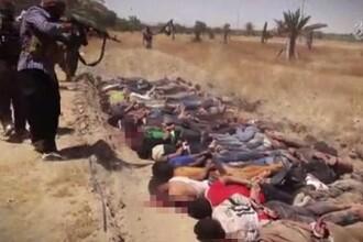 Statul Islamic a facut public un clip cu cel mai mare masacru comis vreodata de jihadisti. Imaginile sunt tulburatoare