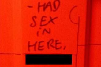 A vrut sa se laude ca a facut sex in toaleta unui bar, dar totul s-a intors impotriva lui. Cum i-au raspuns angajatii
