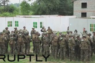 Imagini cu soldatii ucraineni, antrenati de fortele NATO in vestul tarii. SUA a extins programul de instruire. VIDEO