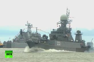 Momentul in care o nava de razboi rateaza lansarea unei rachete chiar de Ziua Marinei Ruse. Reactia lui Vladimir Putin. VIDEO