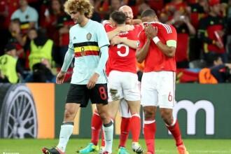 TARA GALILOR-BELGIA 3-1. Nainggolan a marcat un super-gol, dar galezii au intors scorul. Ronaldo vs Bale in semifinale. VIDEO