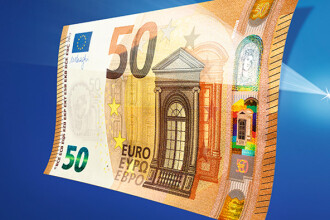 Banca Centrala Europeana introduce in circulatie o noua bancnota de 50 de euro, cea mai folosita dintre banii europeni