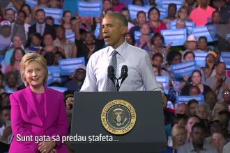 Barack Obama isi arata toata sustinerea pentru Hillary Clinton: