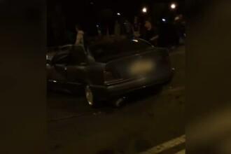 Patru tineri au ajuns la spital, dupa ce ar fi participat la o cursa ilegala de masini pe o strada din Timisoara