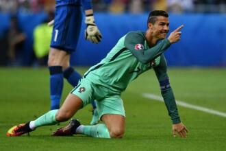 PORTUGALIA - FRANTA 1-0. Eder a inscris unicul gol al meciului. Ronaldo s-a accidentat in minutul 8. VIDEO