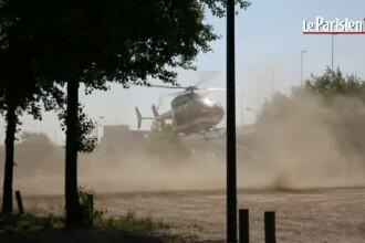 Deschamps, Lloris si Sagna, adusi cu elicopterul la conferinta de presa de pe Stade de France