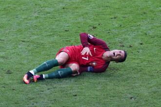 Diagnosticul medicilor dupa accidentarea lui Ronaldo. Mama capitanului Portugaliei il acuza pe Payet ca a lovit cu intentie