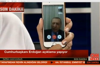 Erdogan a cerut populatiei, prin Face Time, sa iasa in strada. Unde se afla in aceste momente presedintele Turciei