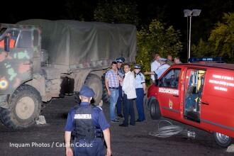 Starea de sanatate a militarilor implicati in accidentul din Arges, cand un camion s-a rasturnat in rapa
