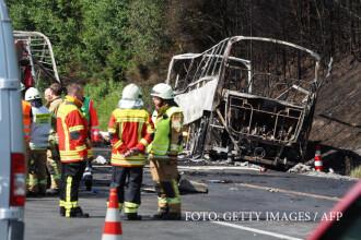Accident grav pe o autostrada din Germania. 17 oameni sunt dati disparuti si politia crede ca au ars de vii intr-un autocar
