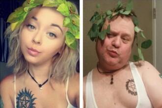 Un tata a inceput sa imite fotografiile sexy ale fiicei sale de pe Instagram. Acum, el are de 2 ori mai multi fani