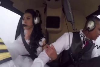 Momentul in care un elicopter se prabuseste in Brazilia, filmat de un pasager. Patru persoane, inclusiv o mireasa, au murit