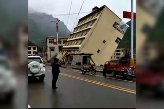 O cladire de 5 etaje din Tibet s-a prabusit dupa ce fundatia sa a fost afectata de ploile torentiale