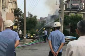 22 de morti intr-un incendiu in China. Politia nu stie cati oameni locuiau in cladirea care a ars