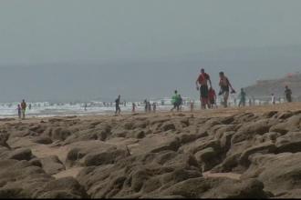 O plaja din Maroc si-a dezvaluit secretele, dupa un tsunami. Urme de dinozauri imprimate in stanca, gasite de specialisti