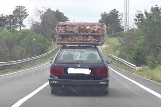 Zeci de gaini, ingramadite intr-o cusca, transportate pe drumurile publice. Unde au fost surprinse imaginile. FOTO