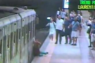 Momentul in care o femeie este tarata pe peron de un tren la metroul din Roma. Ce facea mecanicul garniturii. VIDEO