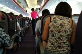 Ce au pozat calatorii intr-un avion low cost care a decolat din Cluj.