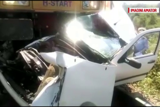 Accident grav in Mehedinti, unde doi angajati ai unei primarii au murit dupa ce masina lor a fost lovita de tren