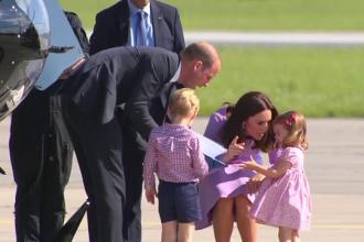 Printesa Charlotte, filmata in timp ce a avut o reactie agresiva. Ce a incercat ducesa de Cambridge sa ii ia din mana