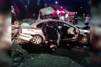 Accident grav petrecut in Timis, dupa ce un autoturism a lovit in plin o autoutilitara. Patru persoane au fost ranite