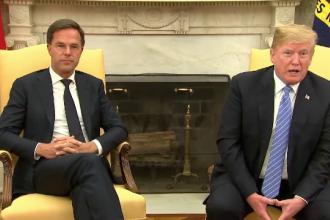 Trump, contrazis de premierul Olandei la Casa Albă, în fața presei