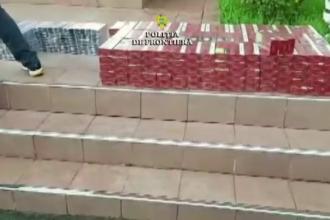 Peste 5.000 de pachete de de ţigări pregătite pentru piaţa neagră, confiscate de poliţiştii din Mehedinţi