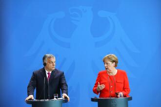 Schimb dur de replici între Merkel şi Orban, la Berlin, în prima lor întâlnire după trei ani