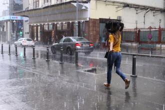 Vreme rea, cu ploi torențiale, la începutul săptămânii, în Capitală