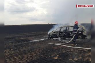 Accident în lanț, cu 4 mașini. Un automobil a luat foc după ce a fost lovit de un TIR