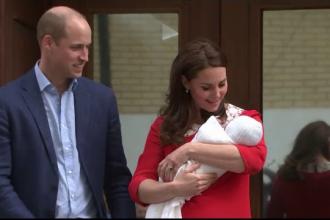 Louis, al treilea copil al prinţului William şi ducesei Catherine, botezat luni