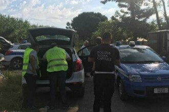 Tabără ilegală de romi evacuată la Roma. Au refuzat locuințele sociale oferite de autorități