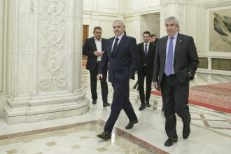 Tăriceanu a discutat cu Dragnea la Parlament. Câțiva miniștri s-au dus la Guvern