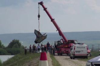 Coada avionului prăbușit, IAR 99-Șoim, recuperată. Martor: