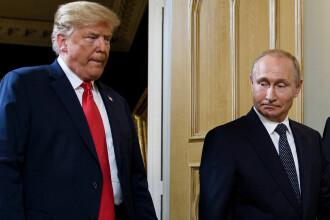Motivul pentru care un farsor a așezat portretul lui Putin în locul lui Trump. FOTO
