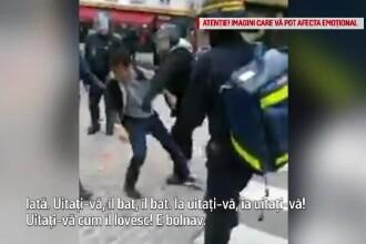 Scandal în Franţa, din cauza gărzii de corp a lui Macron, care a bătut un protestatar