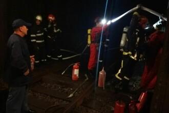 Verificări ale pompierilor în stația de metrou Eroii Revoluției. S-a observat fum pe peron