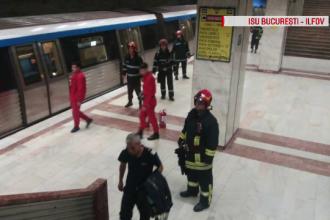 Incident grav la metrou. Un bărbat a scos pistolul în stația Piața Victoriei