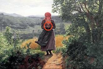 Detaliul bulversant dintr-o pictură de 150 de ani. Obiectul din mâna femeii, inventat în prezent