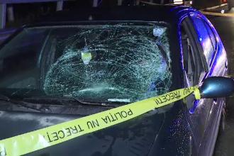 Pieton mort după ce a fost lovit de o maşină când traversa neregulamentar