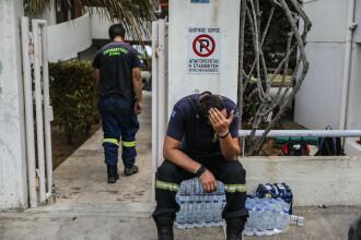 Tragedia unui pompier. Si-a pierdut bebelusul in incendiile din Grecia, iar sotia este in stare critica
