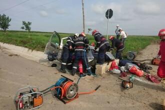 Mamă şi fiică, rănite într-un accident rutier produs în Botoșani